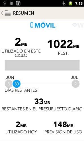 Controlar consumo de datos Android