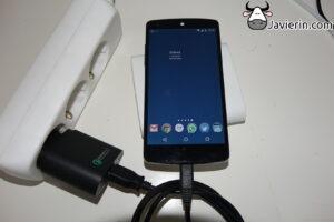 carga con cables USB