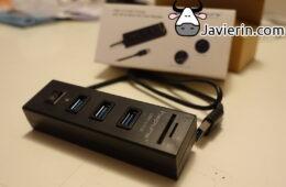 Hub USB 3.0 con lector SD y Micro SD Hapurs