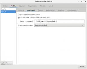 Error terminator screen xterm-256color