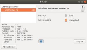 solaar bateria logitech en ubuntu