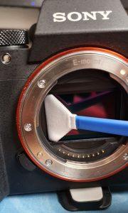 limpiar sensor camara
