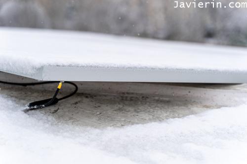 placas solares y nieve